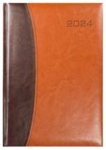 Kalendarz Bolonia ciemny brąz/jasny brąz