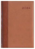 Kalendarz Genewa brązowy/brązowy
