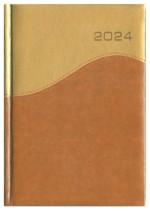 Kalendarz Loretto złoty/brązowy