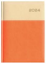 Kalendarz Napoli kość słoniowa/pomarańczowy