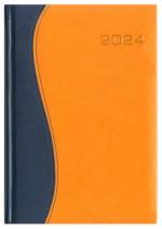 Kalendarz Vincenza granatowy/pomarańczowy